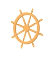 Wooden ship wheel icon cartoon style vector image vector image