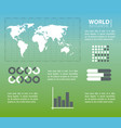 world infographic concept vector image