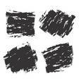 set of black vector image