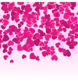 Valentine pink hearts background Holiday Red vector image