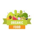 organic food banner natural vegetables vector image