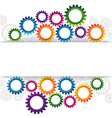 abstract web design with copy space in cog wheel vector image vector image