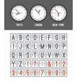 Airport arrival table alphabet vector image