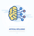 artificial intelligence thin line icon vector image