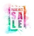 banner summer sale brush background image vector image vector image