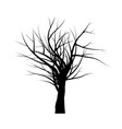 bare tree branch silhouette symbol icon design vector image vector image