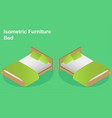 bed isometry view from above isolated vector image vector image