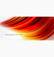 blurred fluid colors background abstract waves vector image vector image