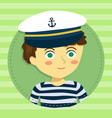 boy with captain hat cartoon avatar vector image vector image
