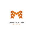 brick logo construction logo design vector image vector image