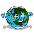 cartoon earth vector image vector image