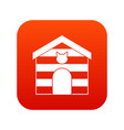 cat house icon digital red vector image vector image
