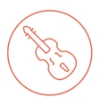 Cello line icon vector image vector image