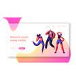 character dancing on street landing page freestyle vector image