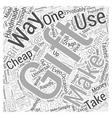 cheap gift idea Word Cloud Concept vector image vector image