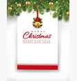christmas card new year background vector image vector image
