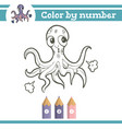 color numbers coloring page for preschool vector image