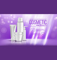 cosmetic bottle banner product branding vector image vector image