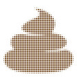 crap halftone icon vector image