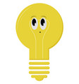 cute lightbulb on white background vector image vector image
