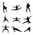 Dancing man silhouette download vector image