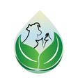 dog and cat environment friendly icon vector image vector image