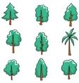 Doodle set of tree art vector image vector image