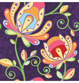 Ethnic floral seamless pattern with flowers vector image vector image
