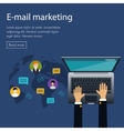flat design concept of e-mail marketing vector image vector image