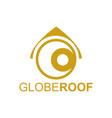 globe rologo concept design template in gold vector image