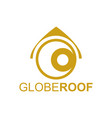 globe roof logo concept design template in gold vector image vector image