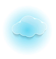 Glossy shiny dream cloud vector image vector image