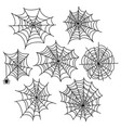 halloween spider web set cobweb decoration vector image