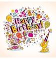 Happy Birthday card 11 vector image vector image