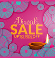 happy diwali sale offers and deals vector image vector image