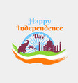 happy independence day in india holiday poster vector image vector image