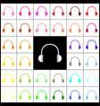 headphones sign felt-pen 33 vector image