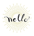 Hello hand lettering vector image
