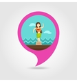 Hula Dancer Statuette pin map icon Vacation vector image vector image