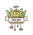 international tea day vector image vector image