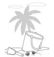 isolated sand bucket design