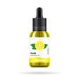 lemon oil in glass jar packaging design vector image vector image