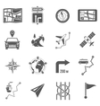Map Icons Black vector image vector image