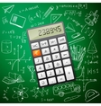 Mathematics hand drawing with a calculator vector image vector image