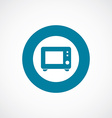 microwave icon bold blue circle border vector image vector image