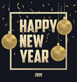 new year card gold vector image vector image