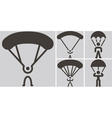 parachute sport icons vector image