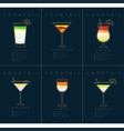 poster cocktails mojito dark blue vector image vector image