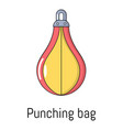 punching bag icon cartoon style vector image vector image