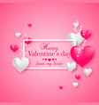 realistic floating 3d valentine hearts vector image vector image